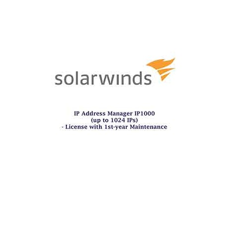 Solarwinds IP Address Manager up to 1000IPS (up to 1024IPs)